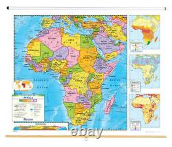 Nystrom Political Relief Map, Africa