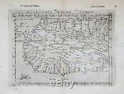 Original antique map of Northwest Africa by Girolamo Ruscelli from 1599