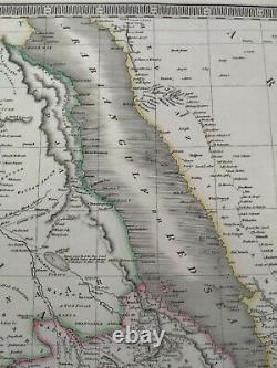 Original antique map of Nubia & Abyssinia by Sidney Hall, 1830