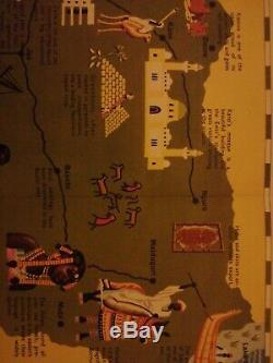 Pictorial Map Of Northern Nigeria Very Rare
