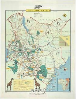 Pictorial map of Kenya published in Nairobi shortly after independence