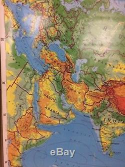 Rand McNally Asia, Africa, Europe & South America Physical Political 4 Maps Pull