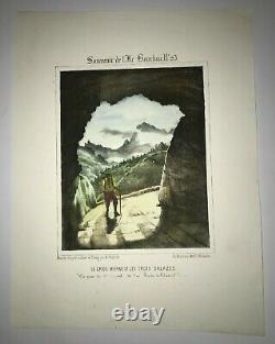 Reunion Island Gros Morne 1847 Roussin Large Nice Antique View 19th Century