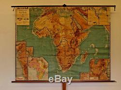 Schulwandkarte Africa Colonial Africa Physical 1910 194x151cm Vintage Wall Map