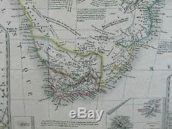 Southern Africa Hottentots extensive detail c. 1835 Brue fine large folio old map