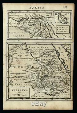Southern Africa Madagascar Abyssinia Nubia Nile source 1701 Moll miniature map