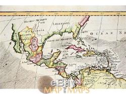 The Americas Africa the Caribbean Islands map Bonne 1770