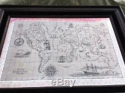 The Royal Geographical Society Sterling Silver and Gold World Map