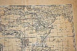 Very Early Hand Colored Map of Africa