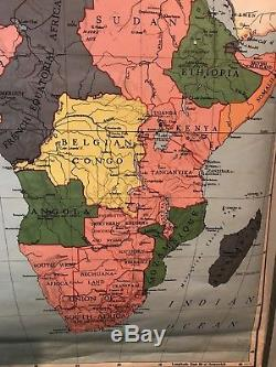 Vintage africa school pull down map 1954 old geography teaching map vintage africa school pull down map 1954 old geography teaching map display 39 gumiabroncs Images