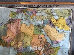 Vintage CLOTH roll up map 1 Layer Africa Government Vintage, Salvage, Antique