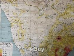 Vintage Pull Down Map CLOTH 1 Layer South Africa Vintage, Salvage, Antique