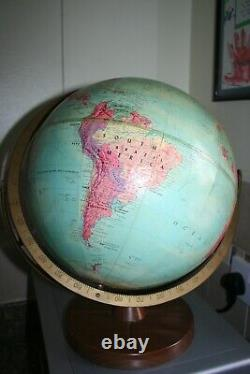 Vintage Replogle 12 Inch Stereo Relief Globe French West Africa Rhodesia USSR