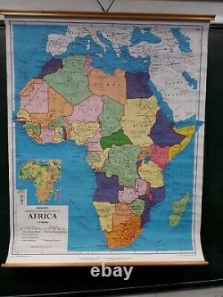 Vintage School Pull Down Map Of Africa