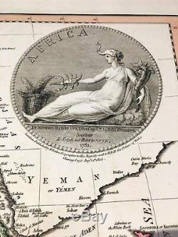 William Faden Map of AFRICA London 1803 Hand Colored